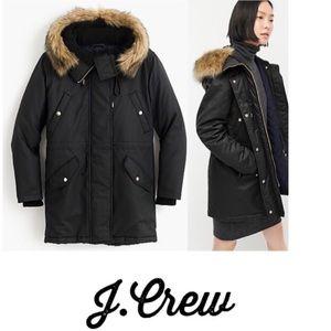 NWT  J.Crew Water Resistant Parka Jacket Coat